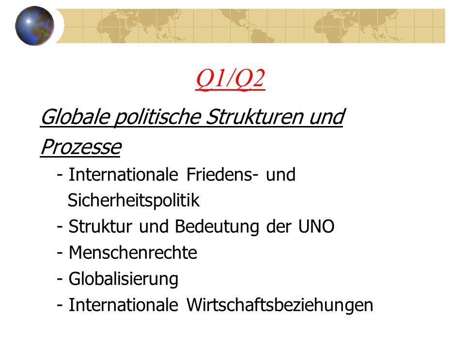 Q1/Q2 Globale politische Strukturen und Prozesse