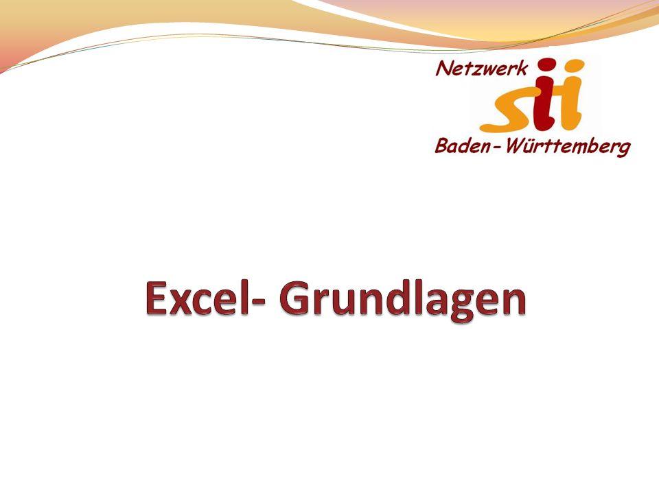 Excel- Grundlagen Die Präsentation eignet sich für einen Impulsvortrag von ca. 30 Minuten.