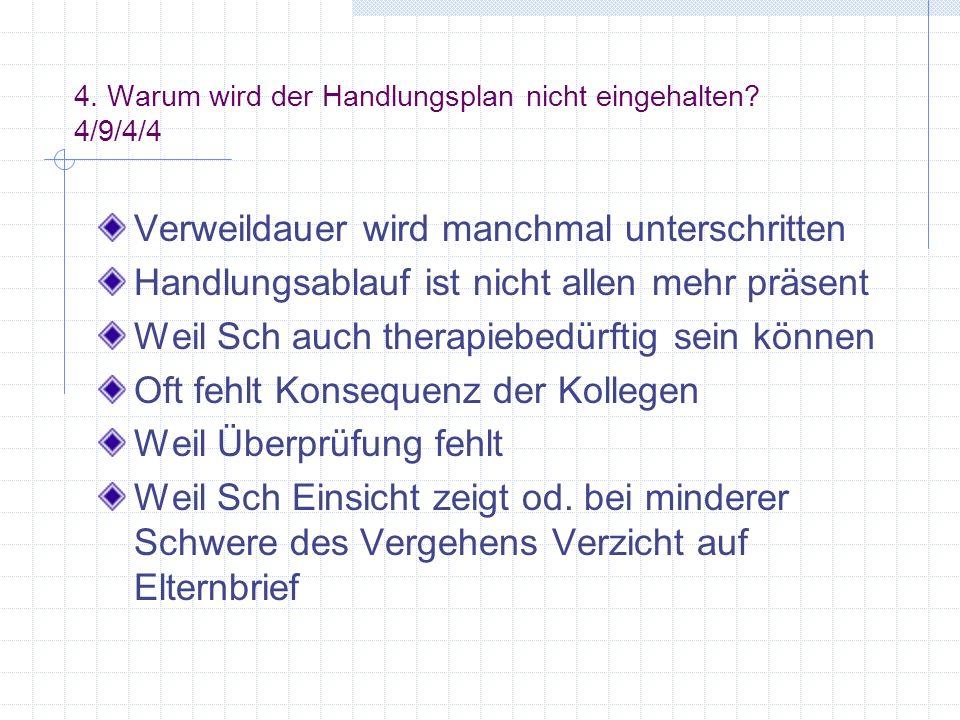 4. Warum wird der Handlungsplan nicht eingehalten 4/9/4/4