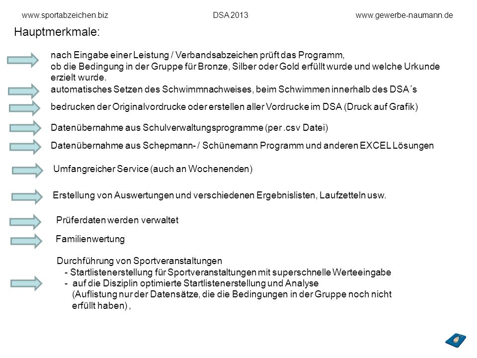 www.sportabzeichen.biz DSA 2013 www.gewerbe-naumann.de