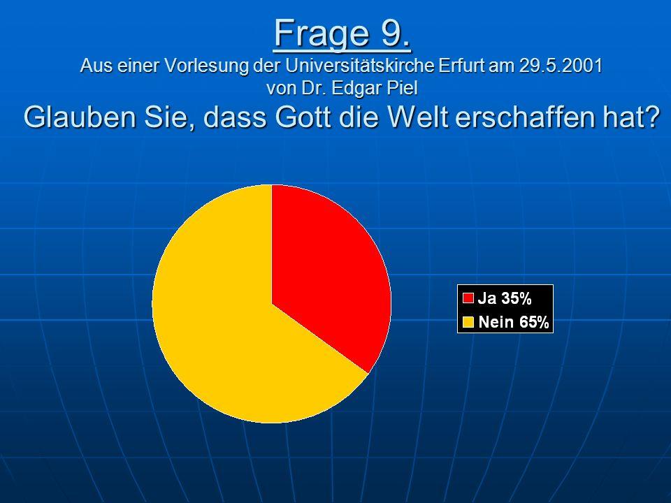 Frage 9. Aus einer Vorlesung der Universitätskirche Erfurt am 29. 5