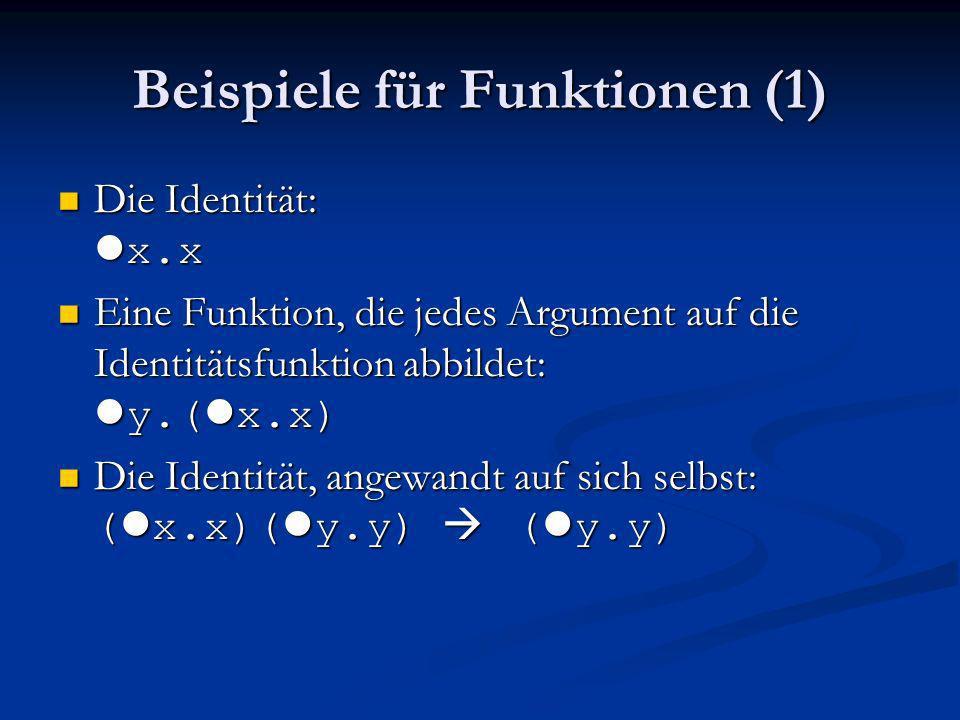 Beispiele für Funktionen (1)
