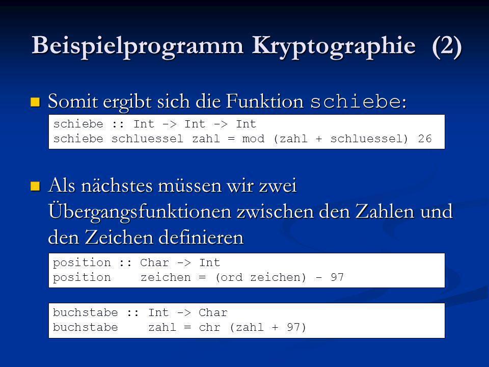 Beispielprogramm Kryptographie (2)