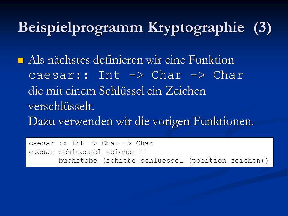 Beispielprogramm Kryptographie (3)