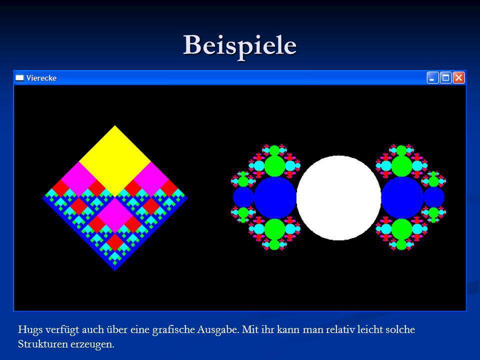 Beispiele Zum Beispiel kann man Zettel 6 laden und zeigen, wie sich das Bild erstellt.