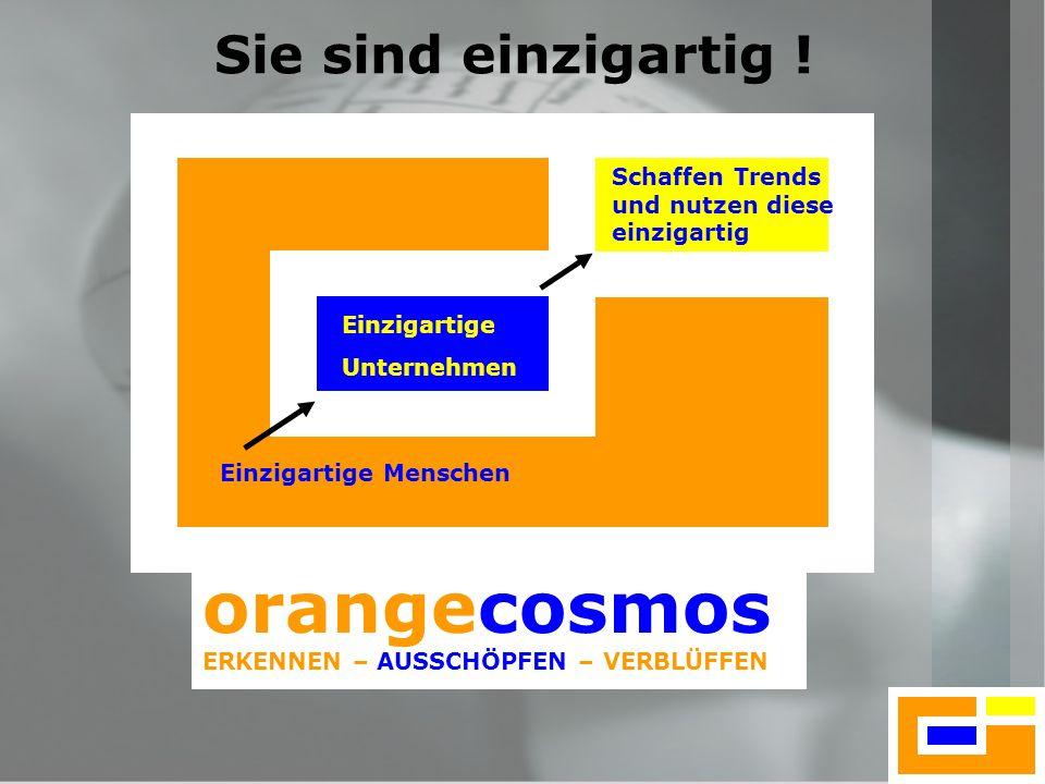 orangecosmos Sie sind einzigartig !