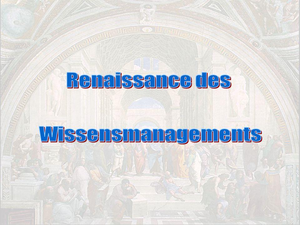 Renaissance des Wissensmanagements PROJECT CONSULT