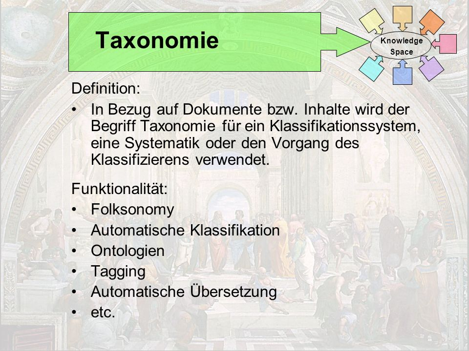Taxonomie Definition:
