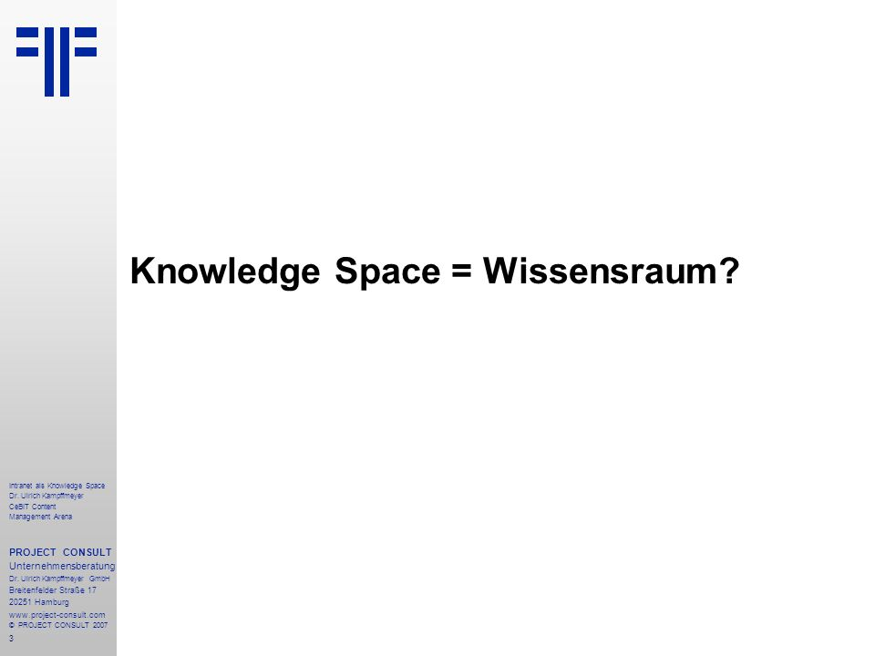 Knowledge Space = Wissensraum