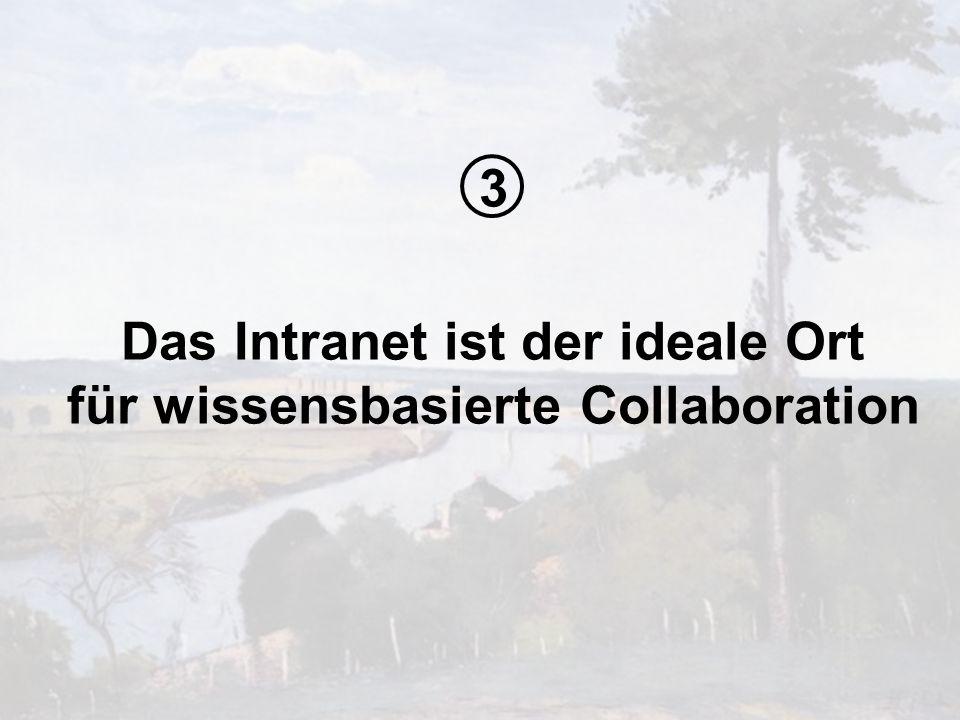 Das Intranet ist der ideale Ort für wissensbasierte Collaboration