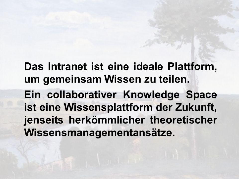 Das Intranet ist eine ideale Plattform, um gemeinsam Wissen zu teilen.