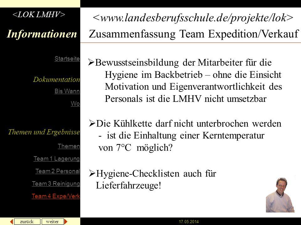 Zusammenfassung Team Expedition/Verkauf