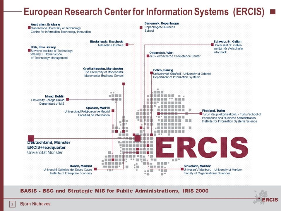 European Research Center for Information Systems (ERCIS)