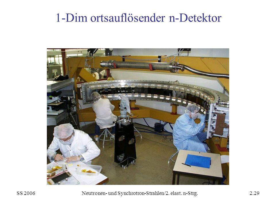 1-Dim ortsauflösender n-Detektor