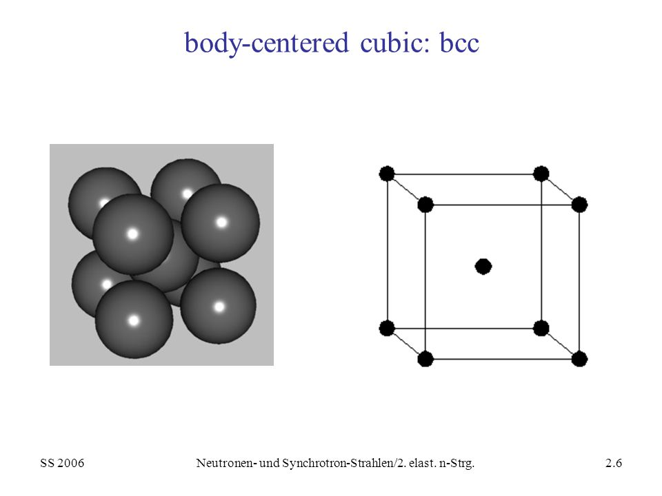 body-centered cubic: bcc