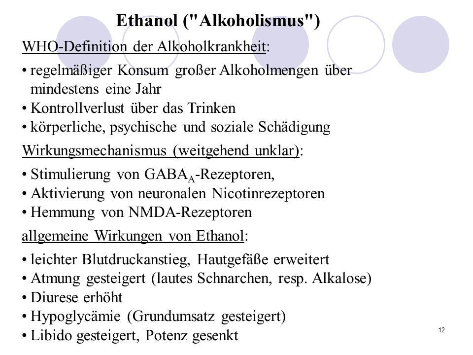 Ethanol ( Alkoholismus )