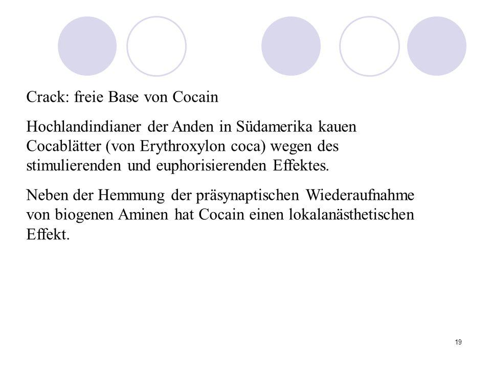 Crack: freie Base von Cocain