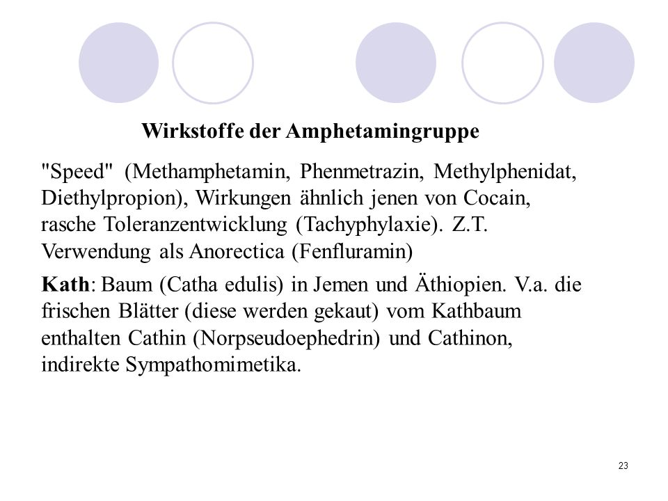 Wirkstoffe der Amphetamingruppe