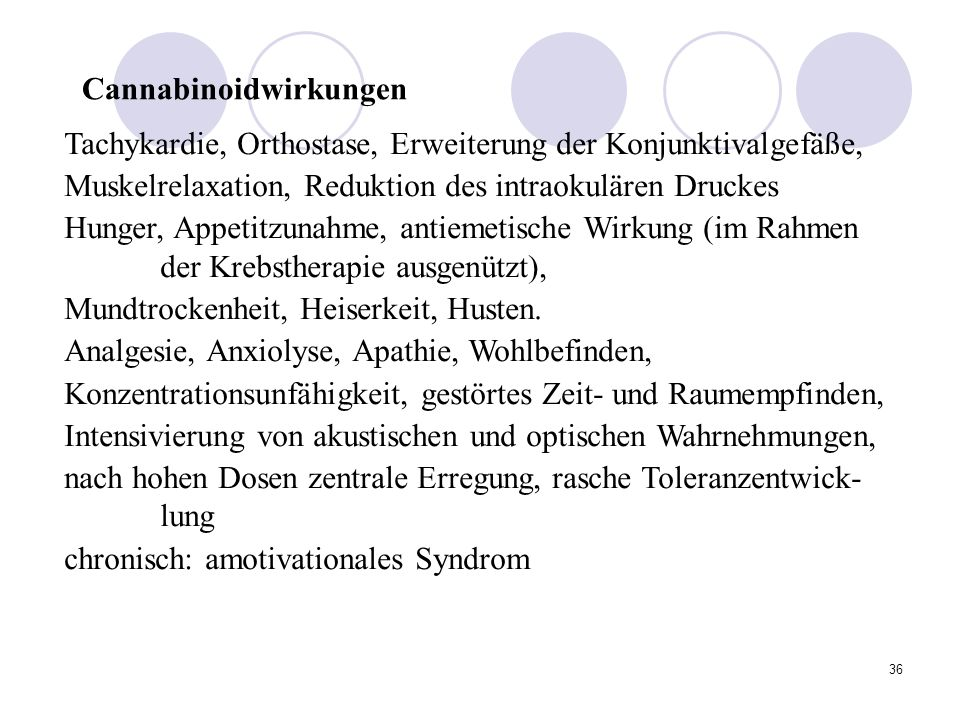 Cannabinoidwirkungen