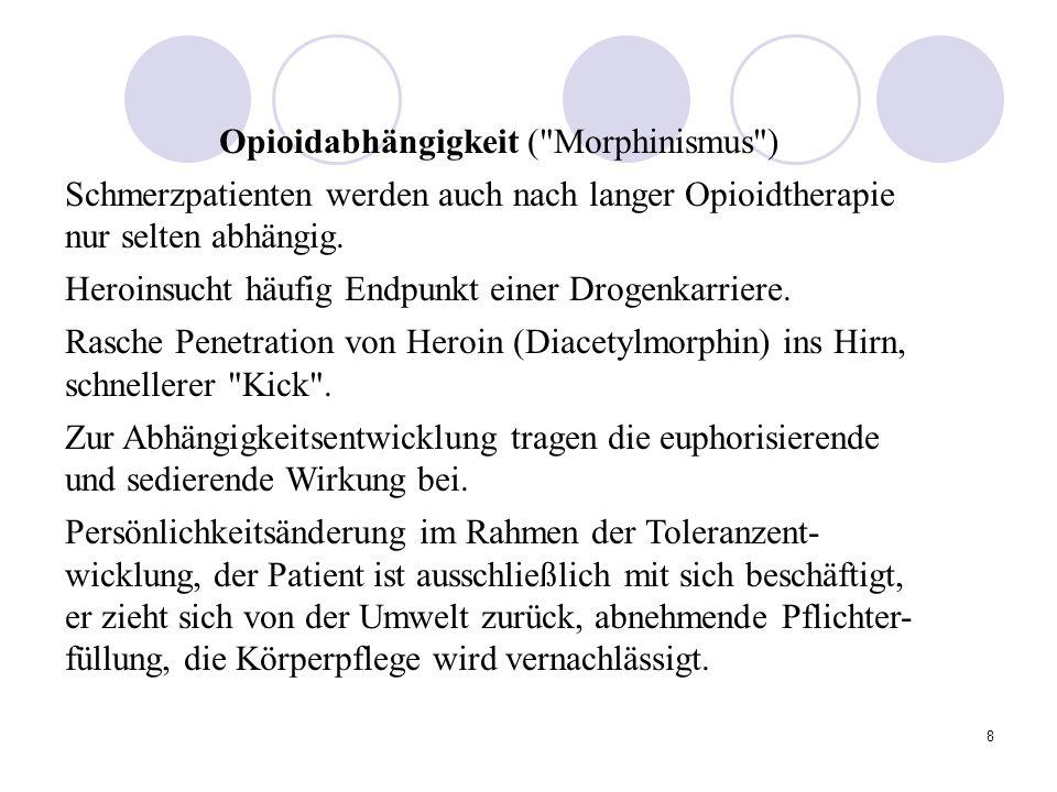 Opioidabhängigkeit ( Morphinismus )