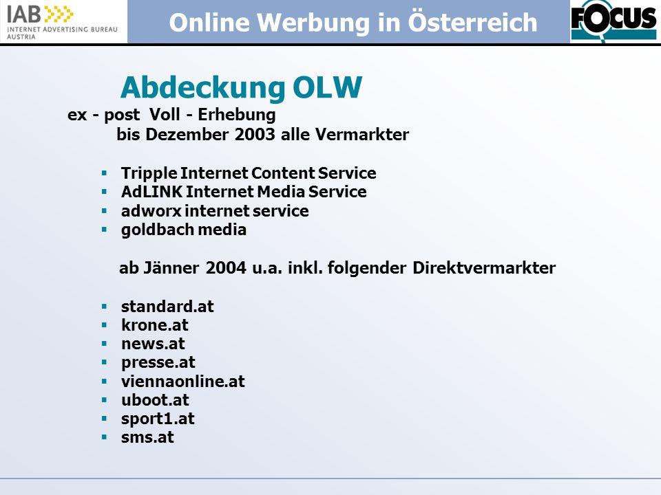Abdeckung OLW ex - post Voll - Erhebung