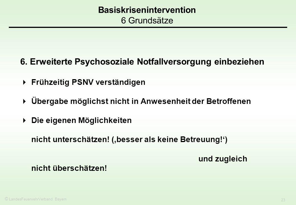 Basiskrisenintervention 6 Grundsätze