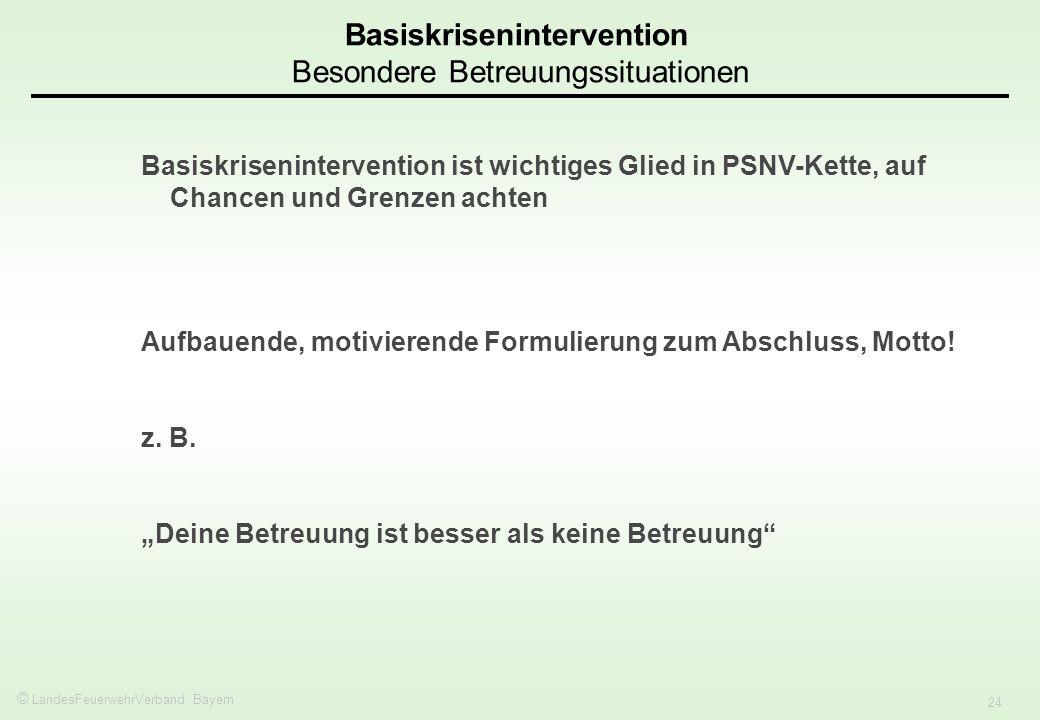 Basiskrisenintervention Besondere Betreuungssituationen