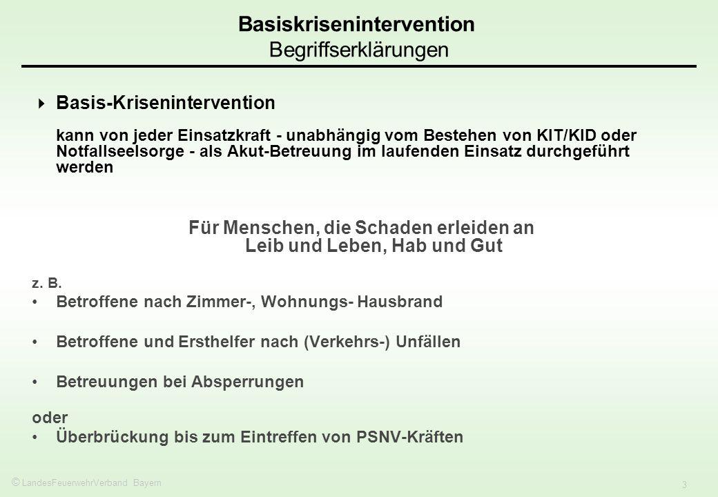 Basiskrisenintervention Begriffserklärungen