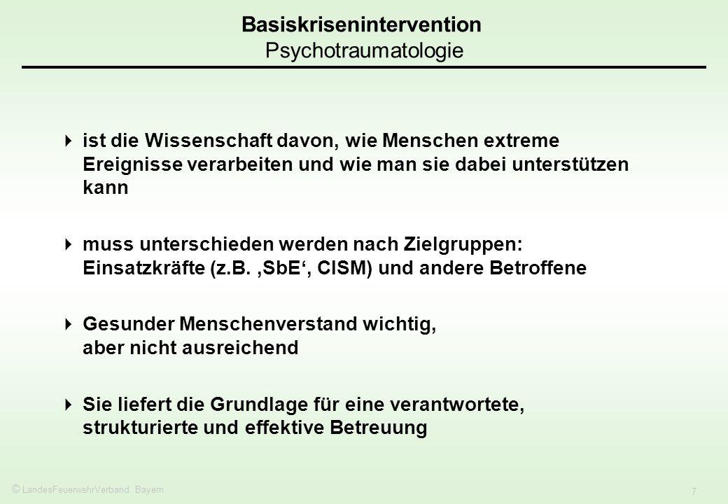 Basiskrisenintervention Psychotraumatologie