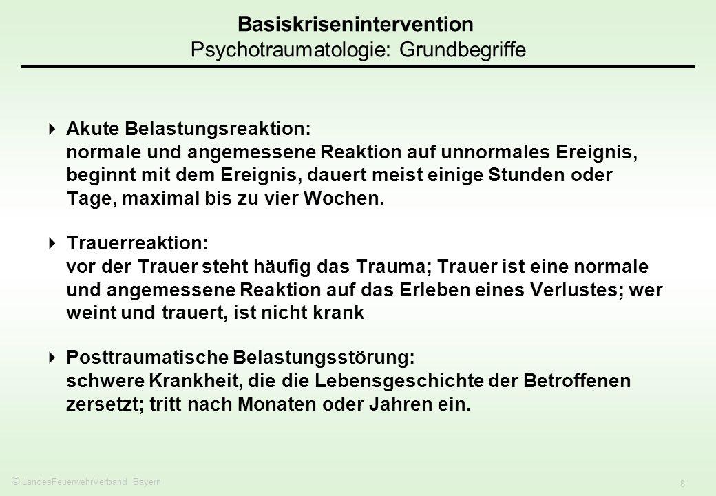Basiskrisenintervention Psychotraumatologie: Grundbegriffe