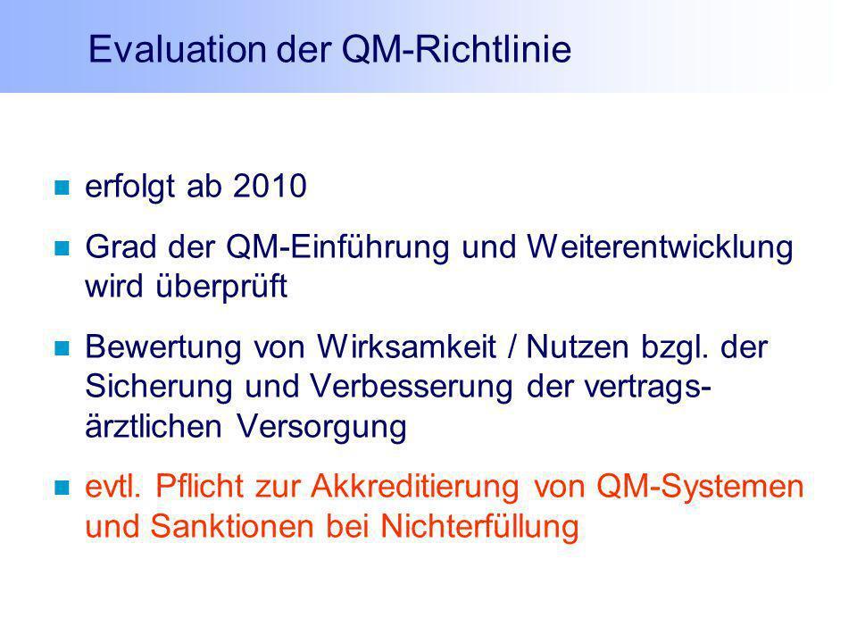 Evaluation der QM-Richtlinie