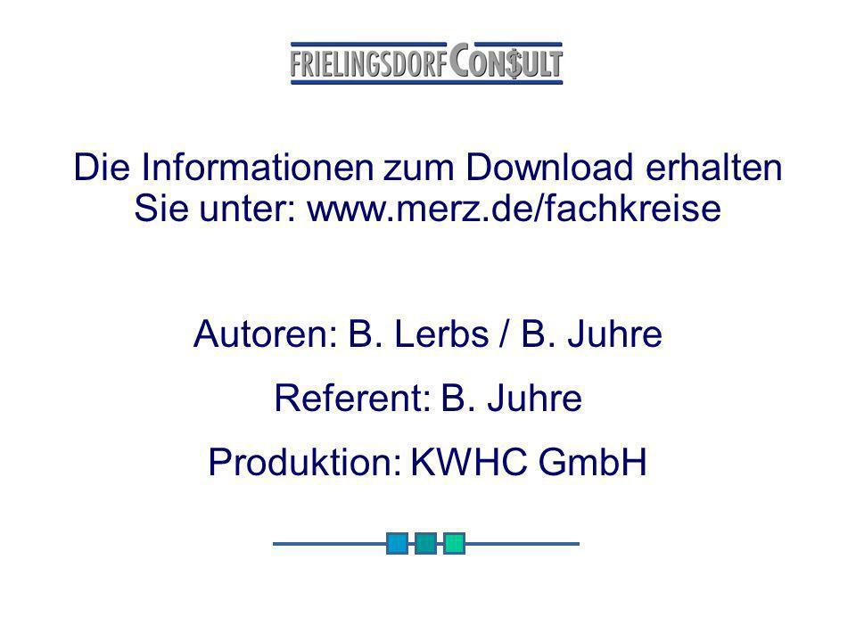 Die Informationen zum Download erhalten Sie unter: www. merz