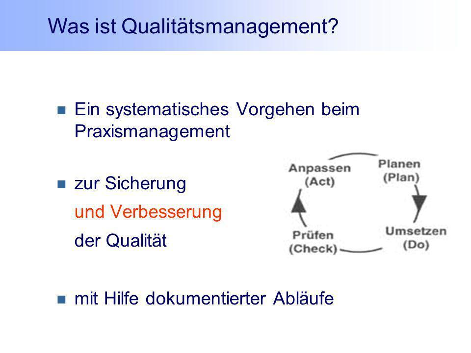Was ist Qualitätsmanagement