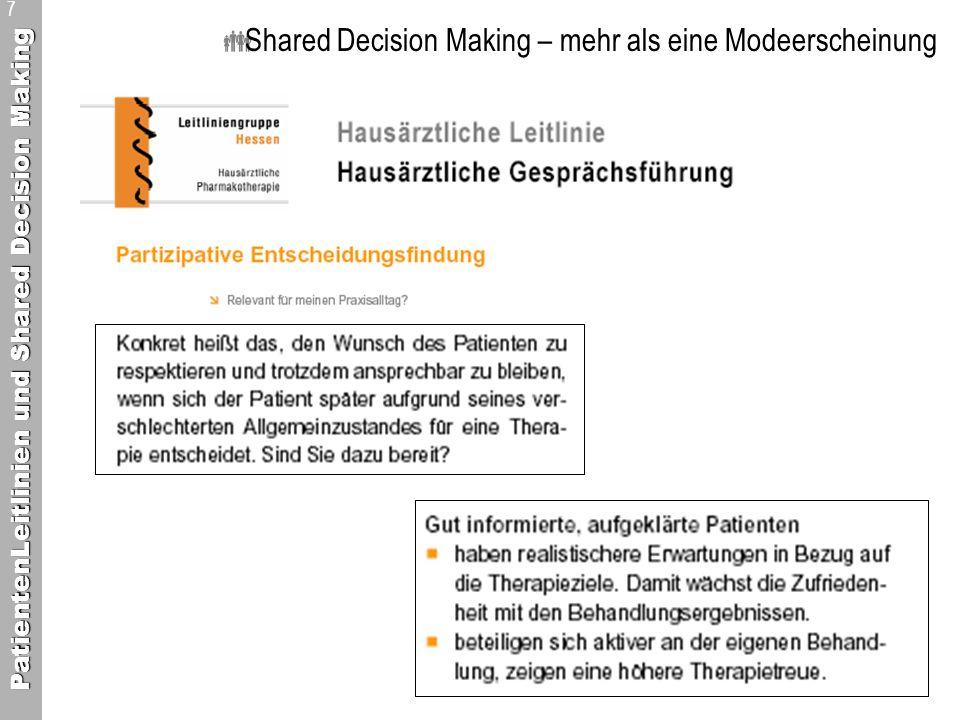 Shared Decision Making – mehr als eine Modeerscheinung