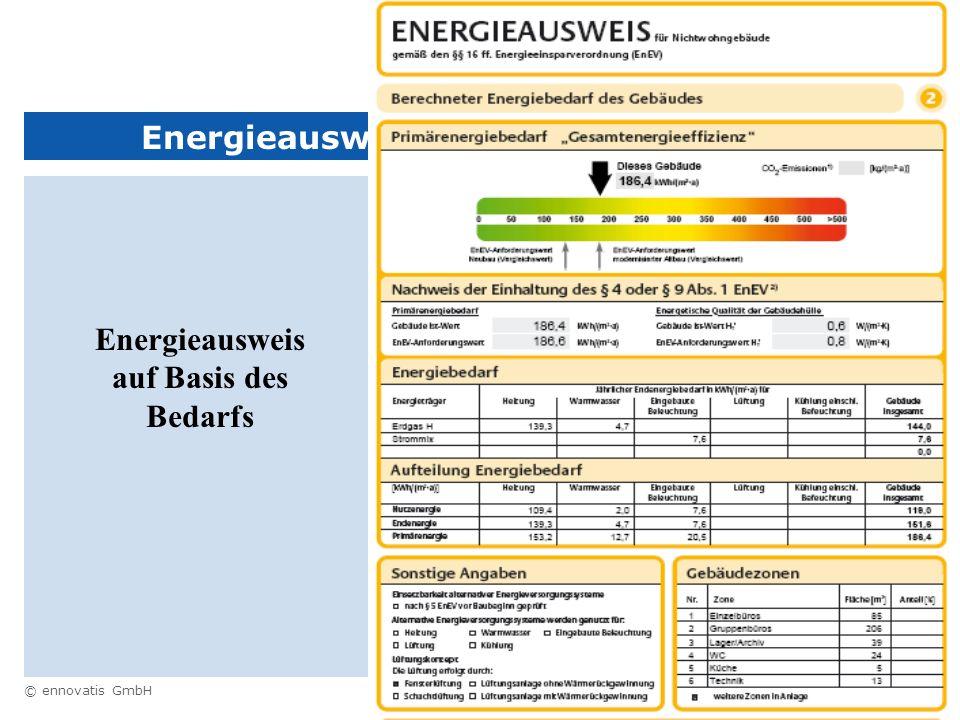 Energieausweis auf Basis des Bedarfs
