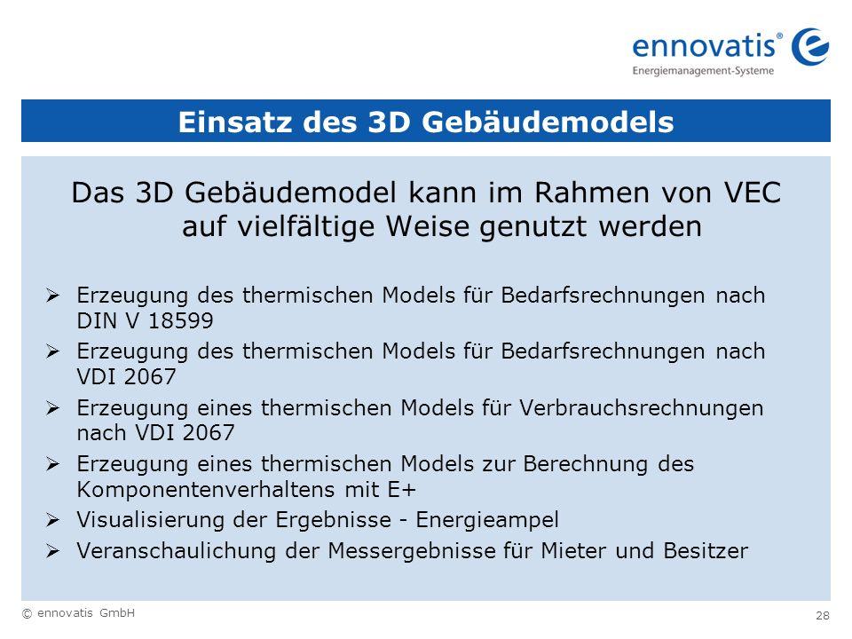 Einsatz des 3D Gebäudemodels