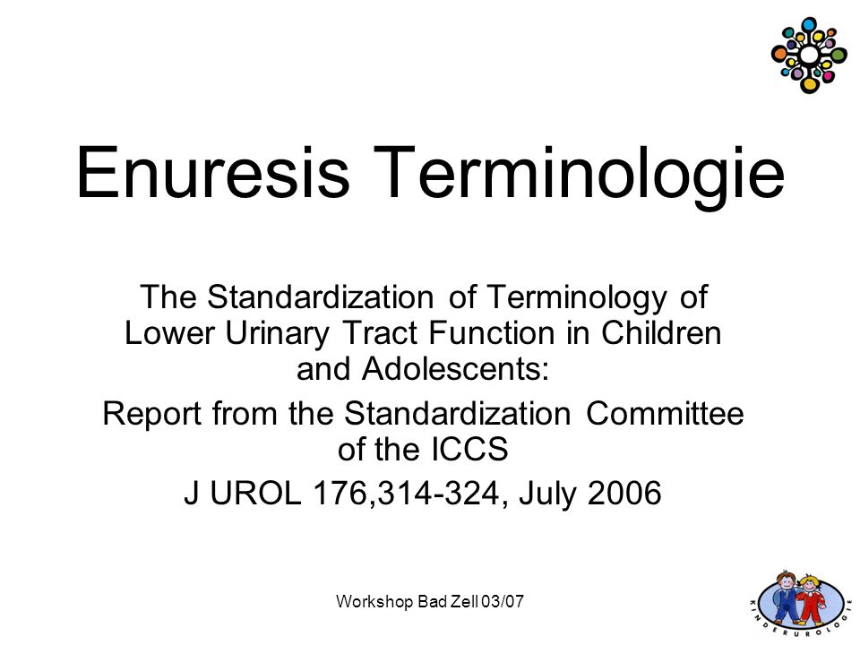 Enuresis Terminologie