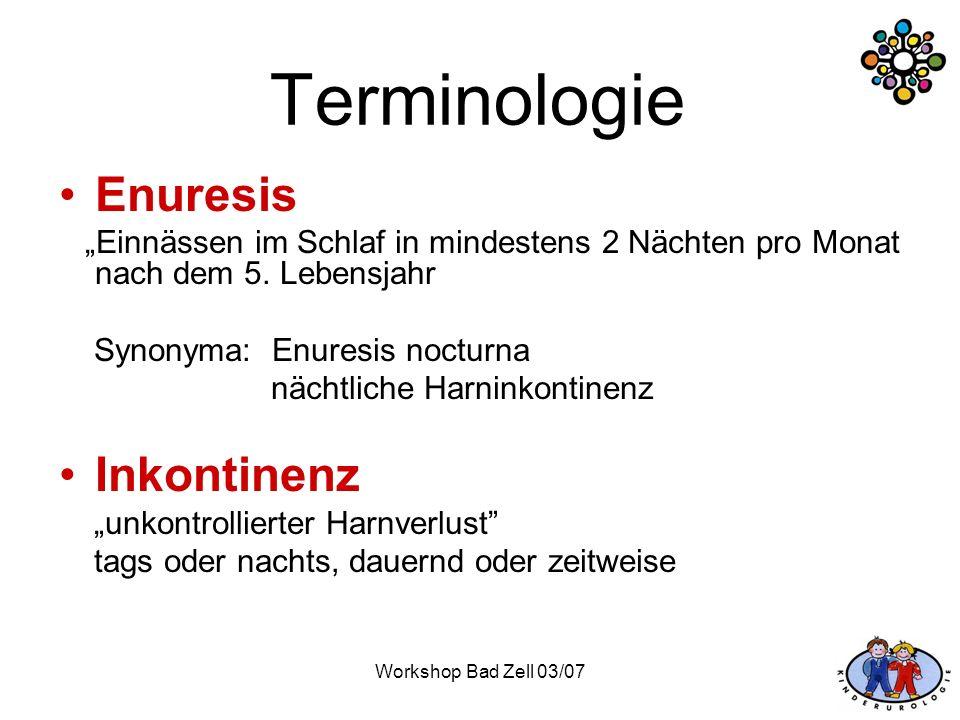 Terminologie Enuresis Inkontinenz