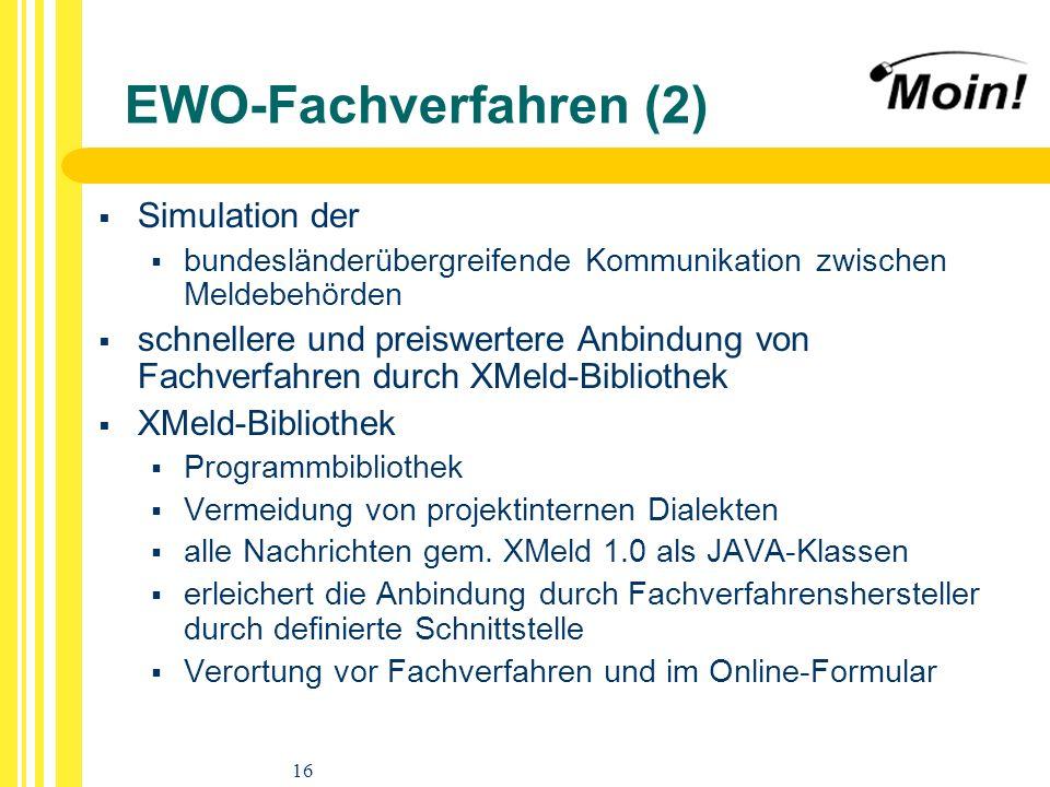 EWO-Fachverfahren (2) Simulation der