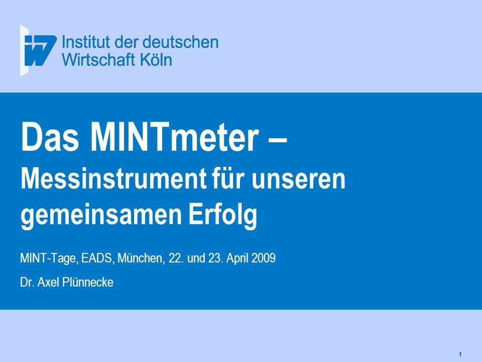 Das MINTmeter – Messinstrument für unseren gemeinsamen Erfolg