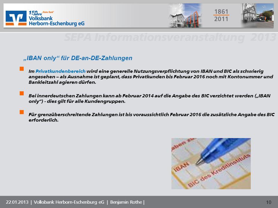 """""""IBAN only für DE-an-DE-Zahlungen"""