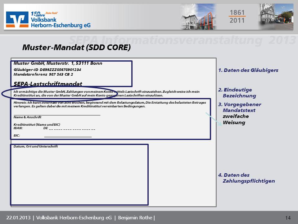 Muster-Mandat (SDD CORE)