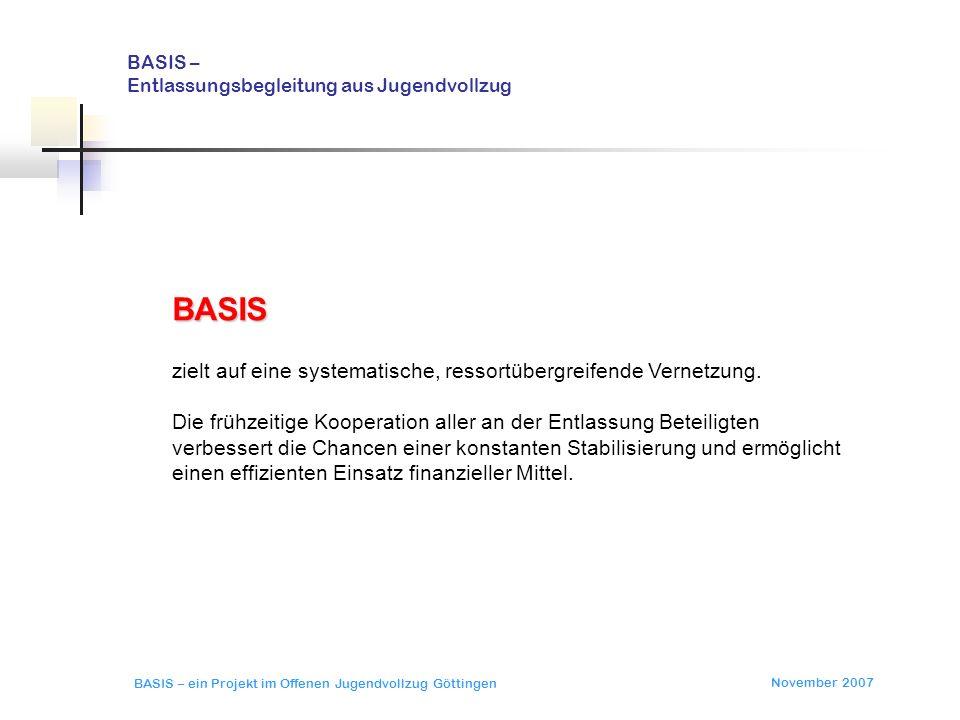 BASIS – Entlassungsbegleitung aus Jugendvollzug