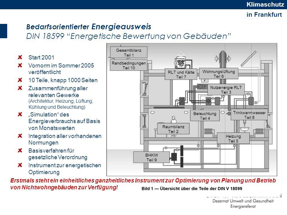 Bedarfsorientierter Energieausweis DIN 18599 Energetische Bewertung von Gebäuden