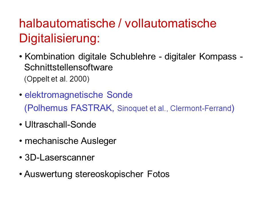 halbautomatische / vollautomatische Digitalisierung: