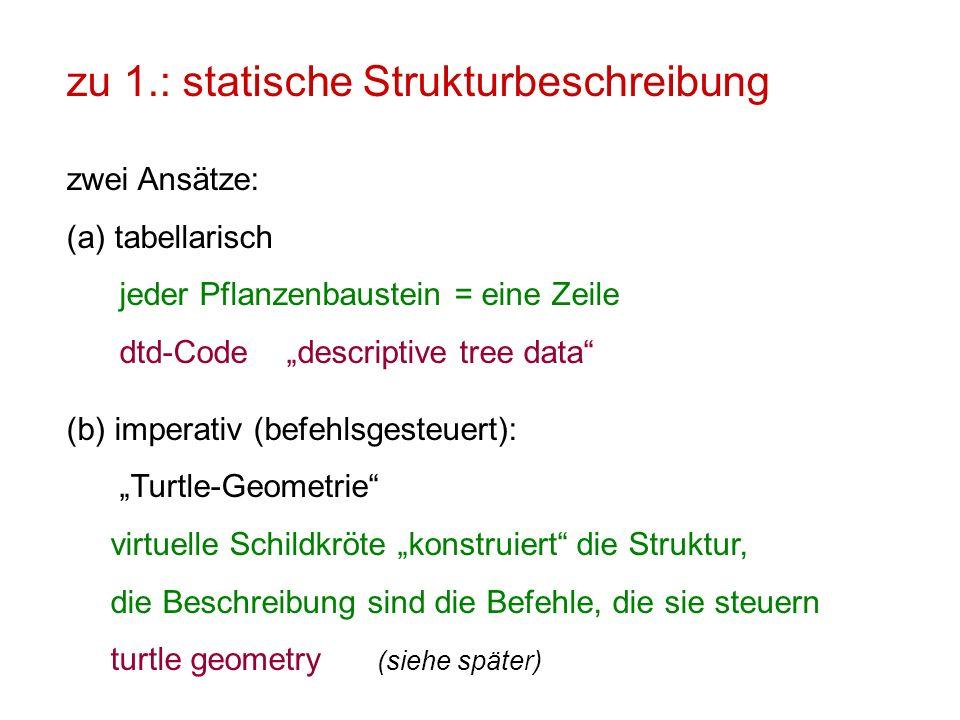 zu 1.: statische Strukturbeschreibung