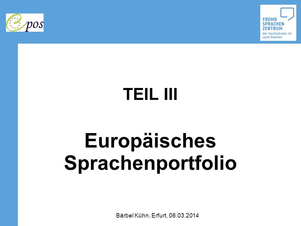 Europäisches Sprachenportfolio