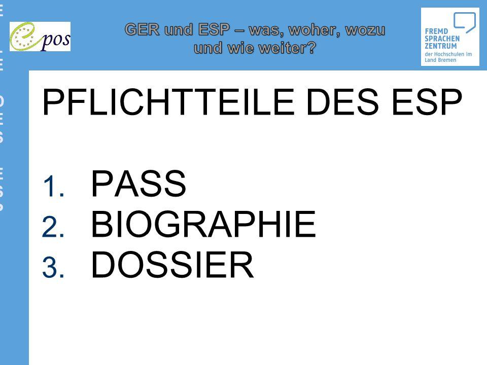 PFLICHTTEILE DES ESP PFLICHTTEILE DES ESP PASS BIOGRAPHIE DOSSIER