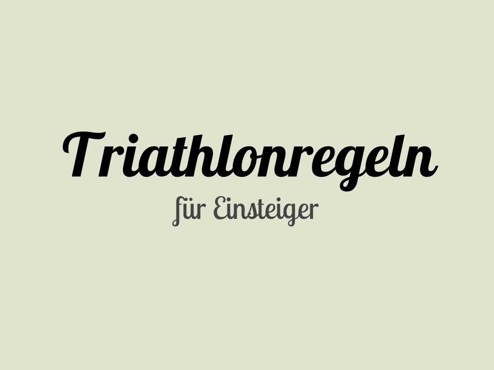 Triathlonregeln für Einsteiger