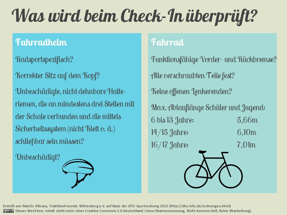  Was wird beim Check-In überprüft Fahrradhelm Fahrrad
